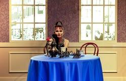 Audrey hepburn, berömd hollywood aktrisstaty på madamtussauds i Hong Kong royaltyfri fotografi