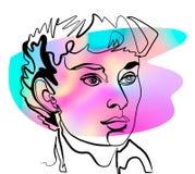 Audrey Hepburn como o retrato da mulher ilustração royalty free
