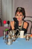 Audrey Hepburn an der Madame Tussauds in Wien Stockfotos