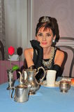 Audrey Hepburn at Madame Tussaud's in Vienna Stock Photos