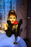 Audrey Hepburn in Madame Tussauds of London Stock Photos