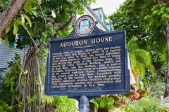 Audubon House Exterior and Sign Stock Images