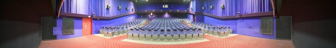 audytorium kin panoramy puste zdjęcie Obraz Stock