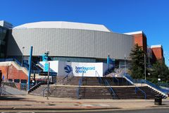 Außen-Barclaycard-Arena in Birmingham, England Stockfotografie