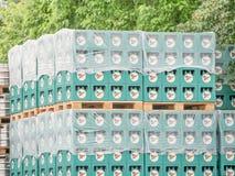 Auerbräu beer crates Royalty Free Stock Photo