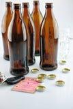 Auf Alkoholsteuer Stockfoto