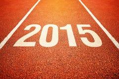 2015 auf Allwetter- Laufbahn der Leichtathletik Lizenzfreie Stockbilder