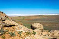 Auf Berg großes Bogdo Lizenzfreie Stockfotografie