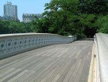 Auf Bogen-Brücke in Central Park Stockbilder
