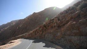 Auf Dades-Schlucht-Tal fahren, Marokko stock video footage
