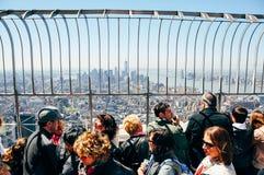 Auf das Empire State Building in Manhattan lizenzfreies stockbild