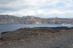 Auf das Meer van matrijzenlandschaft und matrijs Berge der Insel Royalty-vrije Stock Afbeelding