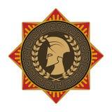Auf dem Bild wird Kastenzeichen das griechische Muster dargestellt Silhouet Stock Abbildung