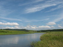 Auf dem Fluss stockfotos