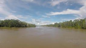 Auf dem Fluss kreuzen der Amazonas, im Regenwald, Brasilien stock video footage