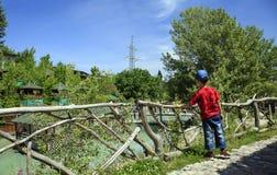 Auf dem Forellenbauernhof in Talgar Lizenzfreie Stockbilder