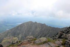 Auf dem Gipfel Stockbild