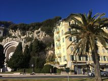 Auf dem Hafen in Nizza errichten, Frankreich stockbild