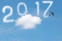 2017 auf dem Himmel Stockfoto