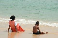 Auf dem Indischen Ozean lizenzfreie stockbilder