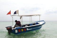 Auf dem Indischen Ozean stockfoto