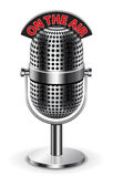 Auf dem Luftmikrofon Lizenzfreies Stockfoto