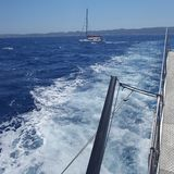 Auf dem Mittelmeer lizenzfreie stockbilder