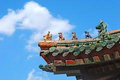 Auf dem Qing Palast von schnitzen Sie Lizenzfreies Stockbild