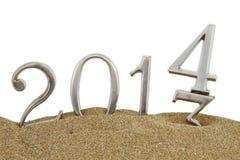 2014 auf dem Sand Lizenzfreies Stockfoto