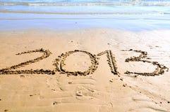 2013 auf dem Sand Lizenzfreies Stockfoto