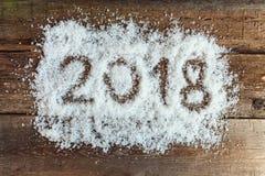 2018 auf dem Schnee Stockbild
