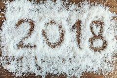 2018 auf dem Schnee Lizenzfreies Stockbild