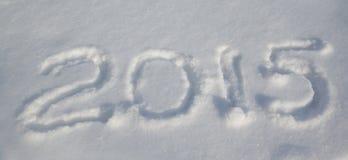 2015 auf dem Schnee Lizenzfreie Stockfotografie