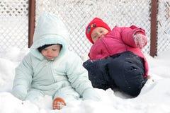Auf dem Schnee Stockfotos