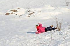 Auf dem Schnee Lizenzfreies Stockbild