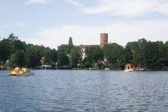 Auf dem See in Polen lizenzfreies stockbild