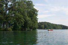 Auf dem See in Polen stockbild