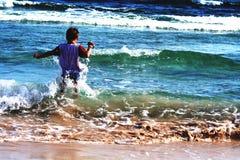 Auf dem Strand Stockfotos