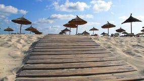 Auf dem Strand Stockbild