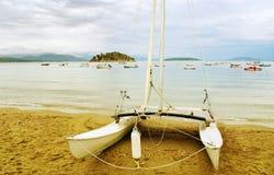 Auf dem Strand. Stockfotografie