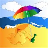 Auf dem Strand stock abbildung