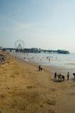 Auf dem Strand Blackpool Lizenzfreies Stockfoto