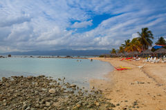 Auf dem Strand Playa Giron, Kuba Stockbilder