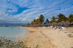 Auf dem Strand Playa Giron, Kuba Lizenzfreies Stockfoto