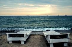 Auf dem Strand Schwarzen Meers stockbild