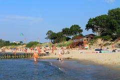 Auf dem Ufer der Ostsee in Zelenogradsk Lizenzfreies Stockfoto
