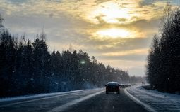 Auf dem Weg zu Ekaterinburg stockfotos