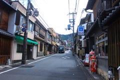 Auf dem Weg zu Kiyomizu-deratempel in Kyoto Japan Lizenzfreie Stockbilder