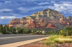 Auf dem Weg zu Sedona, Arizona, USA lizenzfreies stockfoto