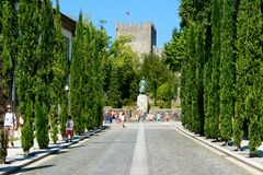 Auf dem Weg zum Schloss Stockbilder